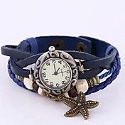 Coway Retro Women's Round Dial Blue Leather  ... – USD $ 6.99