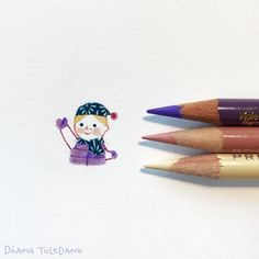 "Diana Toledano / Illustration - Work in progress. Drawing tiny kids for the picture book ""One Snowy Day"", written by Diana Murray."