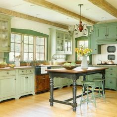 5 Gorgeous Green Kitchens styled to perfection.