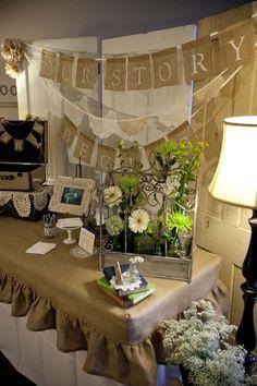 burlap wedding decorations | Found on hwtm.com