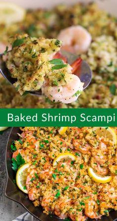 Italian Recipes, Mexican Food Recipes, Healthy Recipes, Ethnic Recipes, Baked Shrimp Scampi, Garlic Bread, Bread Crumbs, Creative Food, Casserole Dishes