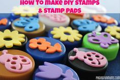 How to make DIY Stamps & Stamp Pads. Includes an easy Video Tutorial!