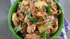 3-Ingredient slow cooker pineapple teriyaki chicken is an easy dinner tonight