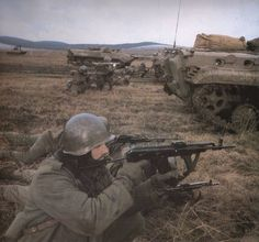 Hungarian soldiers during Warsaw Pact war games