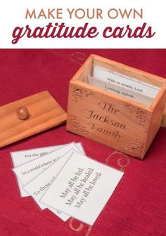 """Want to inspire an """"attitude of gratitude"""" in your family ? Here's a step-by-step tutorial for making your own family gratitude cards."""