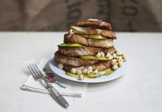 Favorite French Toast by hipsterfood: These are perfect to have before a big day of cold adventures.  #French_Toast #Hazelnuts #Pears