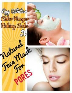 5 Best DIY Homemade Face Mask and Pack Remedies for Pores. Easy home remedies for pores with face mask and pack. Egg whites, Avocado mask, Baking soda, Apple cider vinegar and Sugar scrub recipe for Skin Tightening and to get rid of pores. #FaceCreamForWrinkles #HomemadeBlush Face Mask For Pores, Acne Face Mask, Diy Face Mask, Face Face, Face Diy, Avocado Egg, Baking Soda Mask, Homemade Blush, Home Remedies