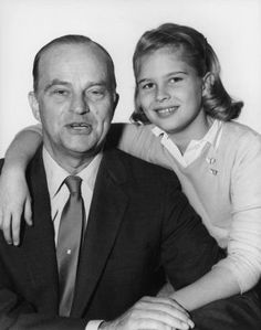 "Edgar Bergen with his daughter and future actress Candice Bergen, on December 16th, 1955. Image is part of the IMDB ""Like Father, Like Daughter"" series of photos"