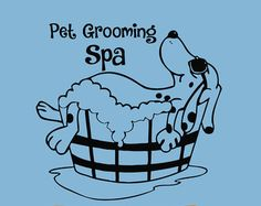 Pets Wall Decals Dog Grooming Salon Decal Vinyl by WisdomDecals