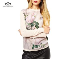 Floral Printed Sweatshirt 2015 New light pink Sweatshirts Autumn Winter Fashion Women Hoody moleton feminino Pullover knitted  #stylish #purse #outfit #model #hair #jewelry #makeup #fashion #cute #jennifiers #outfitoftheday #beautiful #styles #beauty #style