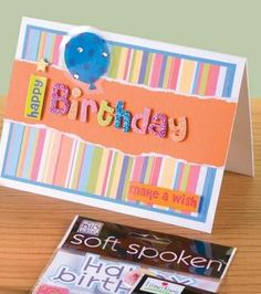 Party Stripe Birthday Card
