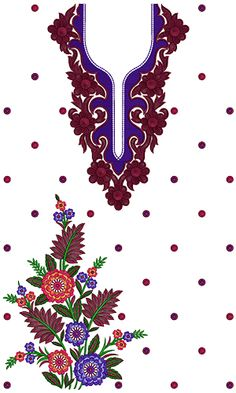 9735 Dress Embroidery Design