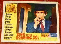 KING OF THE ROARING 20's orig 1961 Lobby Cd #8 David JANSSEN in Entertainment Memorabilia, Movie Memorabilia, Lobby Cards | eBay