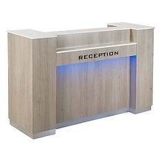 Moon Reception Desk 1 With Led - High Quality Pedicure Spa, Manicure Salon Furniture Modern Reception Desk, Office Reception, Reception Table, Nail Salon Furniture, Spa Furniture, Shop Counter Design, Spa Chair, Office Equipment, Working Area