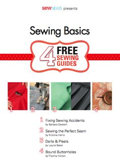 It's always helpful to have an overview of sewing basics, whether you're a beginner or just want a refresher. Get the free eBook from Sew News!