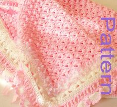 PDF Pattern Crocheted A Cotton Candy Treat Baby Girl Blanket Afghan Original Design