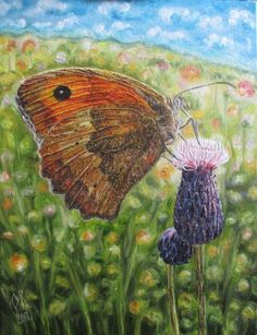 Original hand painted oil on canvas. Inspired by loveliness of butterfly... Very detailed work. Made with love, patience, enthusiasm...  In my work, I want to show beauty of the world that surrou...