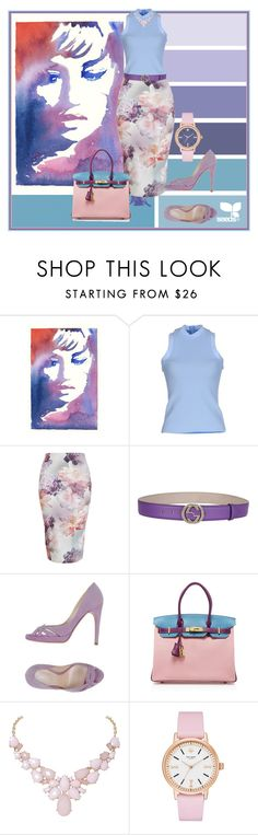 """""""Untitled #373"""" by nastiabigatty ❤ liked on Polyvore featuring Moreau, Acne Studios, Gucci, Casadei, Hermès, Humble Chic, Kate Spade, women's clothing, women and female"""