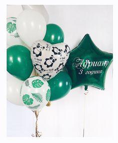 Birthday Balloon Decorations, Panda Party, Balloon Bouquet, Unicorn Birthday, Air Balloon, Christmas Bulbs, Holiday Decor, Store, Globes