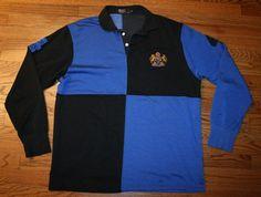 POLO RALPH LAUREN #4 Rugby Crown Lion Crest SHIRT-XL-1967-1997-cookie-FREE SHIP