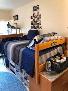 admirable dorm room to create space saving storage ideas 29 Guy Dorm Rooms, College Dorm Rooms, College Tips, College Essentials, Bed Rooms, Dorm Room Storage, Space Saving Storage, Dorm Organization, Room Ideas Bedroom