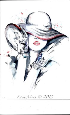Paris Fashion Illustration Original Watercolor by LanasArt Chanel Fashion Ar Painting by Lana Painting & Drawing, Watercolor Paintings, Watercolor Paper, Original Paintings, Arte Fashion, Chanel Fashion, Paris Wall Art, Illustration Mode, Arte Pop