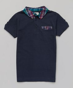 This Classic Navy Plaid Pocket Polo - Infant, Toddler & Boys by Ben Sherman is perfect! #zulilyfinds