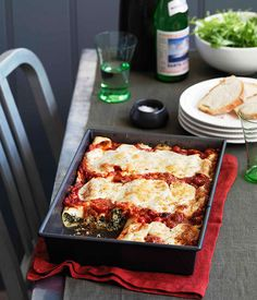 Australian Gourmet Traveller recipe for bitter greens and ricotta cannelloni.