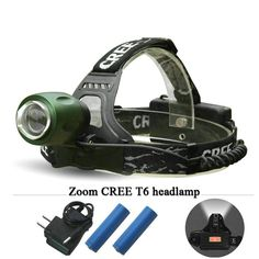 camping necessities Zoomable CREE XM L T6 Headlamp Led Headlight Flashlight head2800 Lumens 4 mode waterproof use 18650 rechargeable battery ** AliExpress Affiliate's buyable pin. View the item in details on www.aliexpress.com by clicking the VISIT button