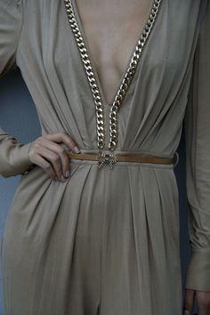 A very elegant cotton-jersey catsuit by Elisabetta Franchi