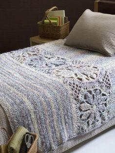 Magnolia Crochet Afghan Pattern via Lion Brand Yarn