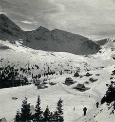 Tatry na starej fotografii - stoki narciarskie w Tatrach