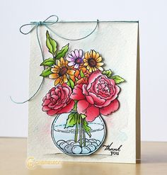 Isha Gupta Thank you Card Chameleon Color, Chameleons, Card Tags, Large Flowers, Art Blog, Colored Pencils, Handmade Cards, Thank You Cards, Markers