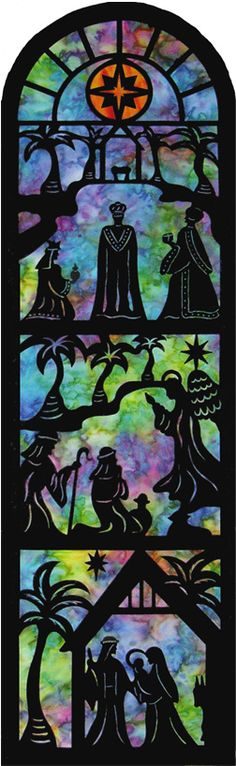 Quilt Inspiration: Christmas Banner by Dilys Fronks.  Laser-cut applique at The Creative Iron