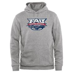 FAU Owls Big & Tall Classic Primary Pullover Hoodie - Ash