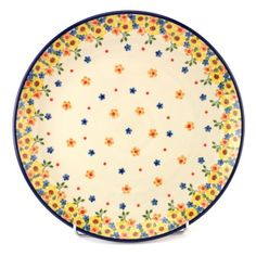 New playful pattern by Polish pottery. Found at http://slavicapottery.com