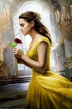 "Emma Watson as Belle in ""The Beauty and The Beast"" promotional poster."