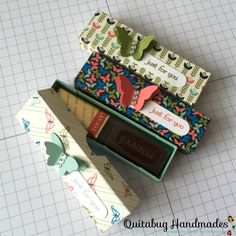 Stampin' Up! Teeny Tiny Just For You Treat Box Merci Chocolate, Origami Templates, Box Templates, 3d Paper Crafts, Foam Crafts, Paper Art, Treat Holder, Pillow Box, Mini Scrapbook Albums