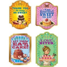 Sweet Confections Gift Tags