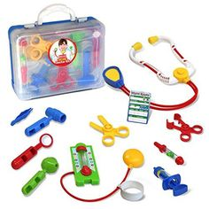 Toy Medical Kits - Kidzlane Deluxe Doctor Medical Kit  Pretend and Play Set for Kids -- See this great product.