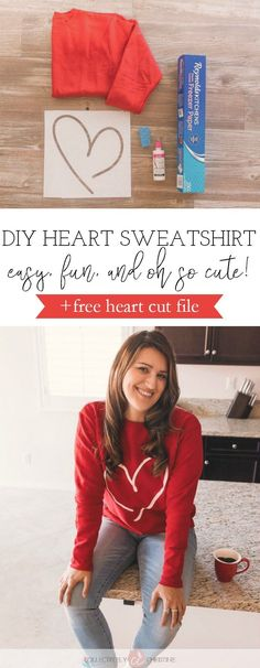 DIY Cute Heart Sweat