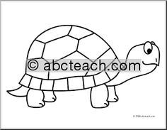 Cute Tortoise Coloring Sheet Coloring Pages For Children