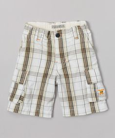 This White & Brown Plaid Shorts - Infant & Toddler is perfect! #zulilyfinds