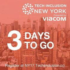 Only a few days, and a few tickets still available for #TechInclusion #NewYork http://tcin.co/2ukHaLz  techinclusion,newyork