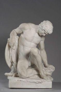 Gladiateur mourant Human Sculpture, Modern Sculpture, Sculpture Romaine, Statue En Bronze, Anatomy Sculpture, Art Occidental, Greek Statues, Classical Art, Renaissance Art