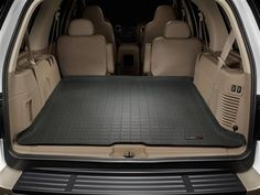 Ford Expedition Cargo Liner By Weathertech Fits Rear Area Of Vehicle Behind Either Or Row Seating Available In Black Tan Or Grey Colors