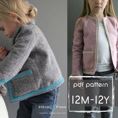 NEW Coco Jacket pattern and tutorial 12m-12y holiday jacket coat bolero PDF