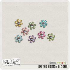 Quality DigiScrap Freebies: Limited Edition Blooms freebie from Bella Gypsy Designs