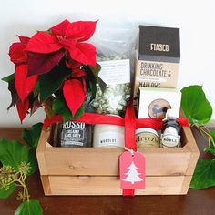 """""""Our FESTIVE holiday gift boxes are now available for pre-order! Shop link in profile to purchase   Rhosyn is giving away one of our medium sized boxes to…"""""""