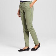 Women's Chino Pants Healthy Green 16 - Merona #pantswomen
